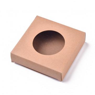 zložljiva škatla iz kartona, 10x10x2.4 cm, 1 kos