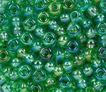 EFCO steklene perle 2,6 mm, jabolčno zelene, irizirane, 17 g