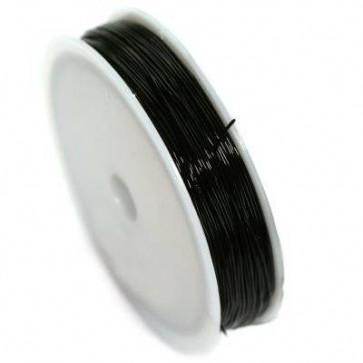 elastična vrvica, 0,8 mm, črna, dolžina: 20 m