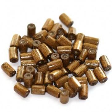 lesene perle, cevne 8x4 mm, sv. rjave, 50 gr