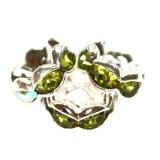 vmesni obročki s cirkoni 6 mm, olivine, 1 kos