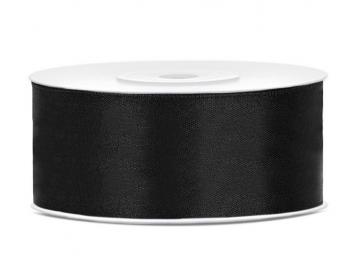 satenast trak, črna b., širina: 25 mm, dolžina: 25 m, 1 kos