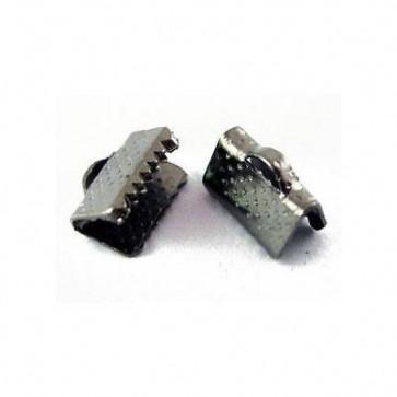 zaključni element za trak/vrvico 6x6x5 mm, črne b., 1 kos