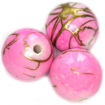 plastične perle, okrogle 8 mm, sv. roza, 50 gr