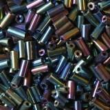 steklene perle cevke 4,5 mm, navy mix, 20 gr