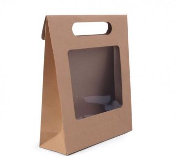 darilna embalaža 16 x 21 x 6,7 cm, rjave b., 1 kos
