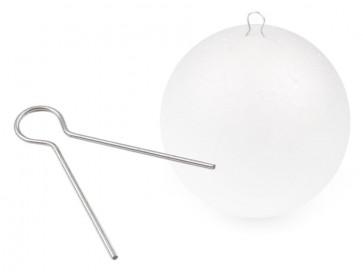 kovinski nastavek/obesek za stiropor kroglo, 1 kos