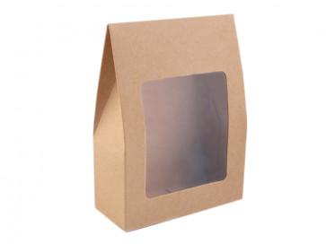 darilna embalaža 9,5x13 cm, rjave b., 1 kos