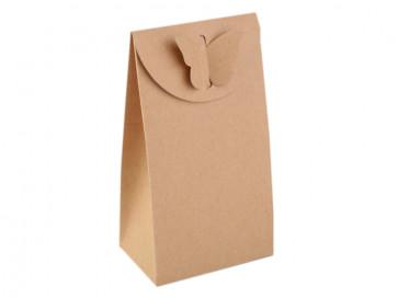 darilna embalaža 8x15 cm, rjave b., 1 kos