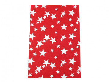 filc 20 x 30 cm - A4, rdeč z zvezdicami, 0,75 mm/180 g/m2, 1 kos