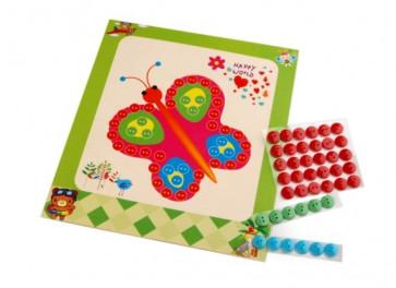 Set za ustvarjanje z gumbi, metulj, 1 komplet