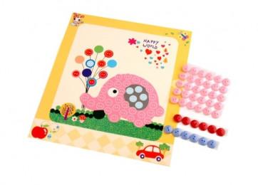 Set za ustvarjanje z gumbi, slon, 1 komplet