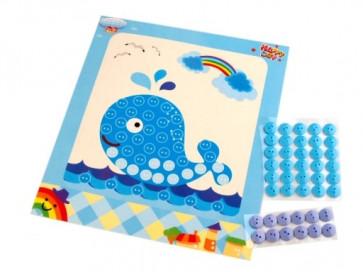 set za ustvarjanje z gumbi, kit, 1 komplet