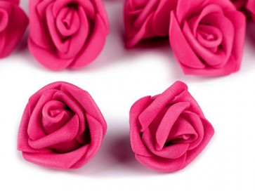 dekorativna roža, penasta, 2,8x4 cm, lila-roza b., 1 kos