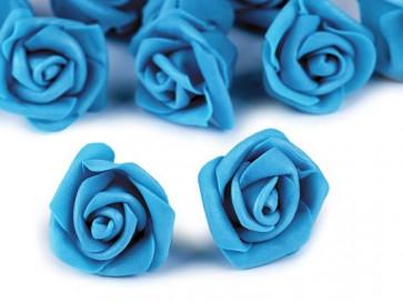 dekorativna roža, penasta, 2,8x4 cm, t. modra b., 1 kos