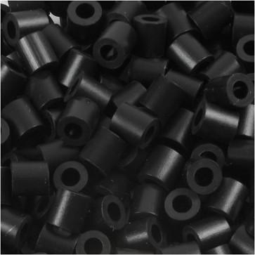 hama perle 5x5 mm, velikost luknje: 2.5 mm, črne b., cca 1000 kos
