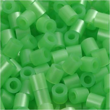 "hama perle 5x5 mm, velikost luknje: 2.5 mm, zelene ""Mother-of-pearl"" b., cca 1000 kos"