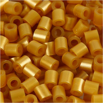 hama perle 5x5 mm, velikost luknje: 2.5 mm, zlate b., cca 1000 kos