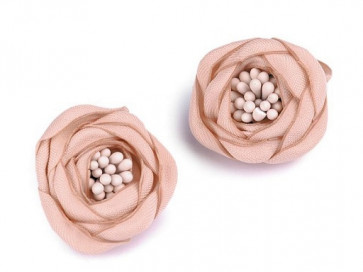 dekorativna roža, poliester, 25-30 mm, salamon b., 1 kos