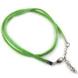 osnova za ogrlico - žamet, zelena, 48 cm, 1 kos