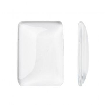steklena kapljica 33x23x5 mm, oblika pravokotna, prozorna, 1 kos
