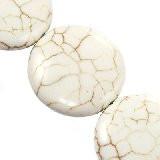 perle iz sintetičnega kamna 25 mm, bele, 1 kos