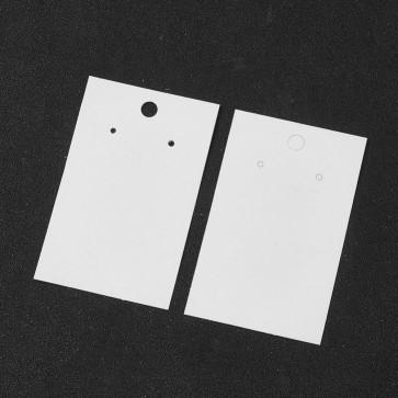 kartonček za uhane in obeske 50x80 mm, bele barve, 1 kos