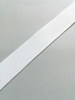 grosgrain trak 15 mm, beli, 1 m