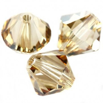 perle Swarovski 4 mm, crystal golden shadow, 1 kos