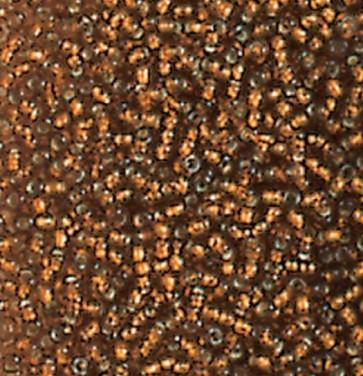 EFCO steklene perle 2,6 mm, bakrene, prosojne s posrebreno luknjico, 17 g