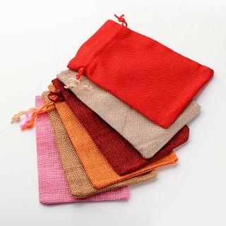 vrečke iz jute 180x130mm, sv. rdeče, 1 kos