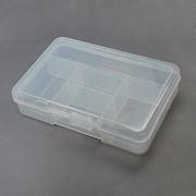 plastična posoda za perle 10cmx14.5cmx3.3cm, prozorna, 1 kos