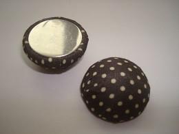 kapljica iz aluminija - obložena z blagom, 15x7 mm, črna, 1 kos