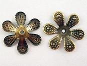 dekorativna kapa 16 mm, antik, 10 kos