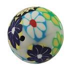 fimo perle okrogle 20 mm, rože, ročno delo, 1 kos