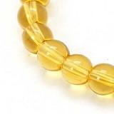 steklene perle 4 mm, zlatorumene, 1 niz - 32 cm