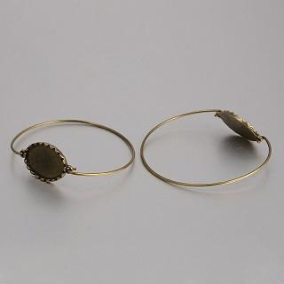 kovinska osnova za zapestnico 67 mm, antik, brez niklja, 1 kos