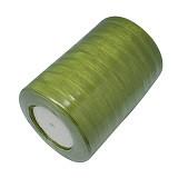 organza trak zelen, širina: 10 mm, dolžina: 45 m