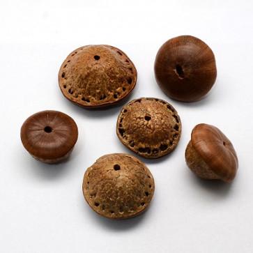 lesene perle - naravne, mix, 1 kos