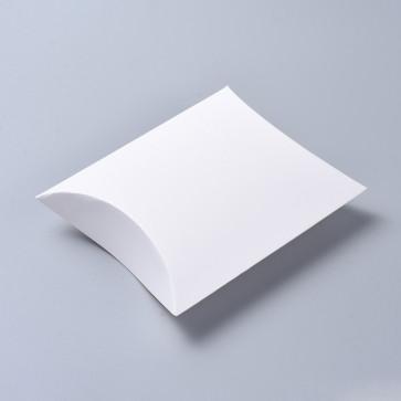 darilna embalaža za nakit, 16.5x13x4.2 cm, bela b., 1 kos