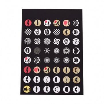 slike za kapljice, 10 mm, mix, 1 listič (40~70 kos)