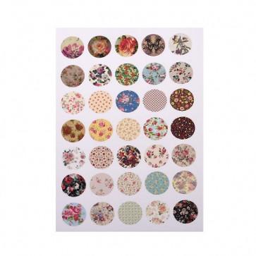 slike za kapljice, 14 mm, mix, 1 listič (28~35 kos)