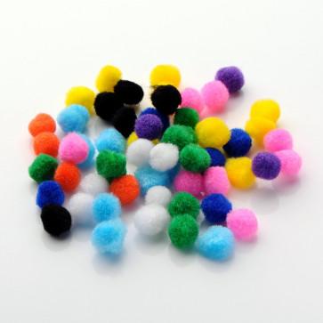 pom pom kroglice 20 mm, mix, 50 kos