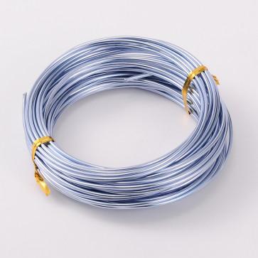 alu barvna žica za oblikovanje, 2 mm, sv. modra, dolžina: 10 m
