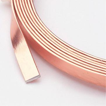 alu barvna žica za oblikovanje - ploščata, širina: 5 mm, debelina: 1 mm, PeachPuff, 2 m