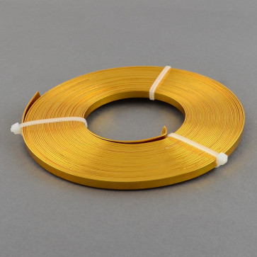 alu barvna žica za oblikovanje - ploščata, širina: 5 mm, debelina: 1 mm, zlata, 2 m