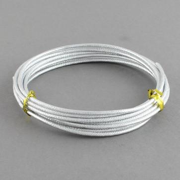 alu barvna žica za oblikovanje, 2 mm, srebrna - z vzorcem, dolžina: 2 m