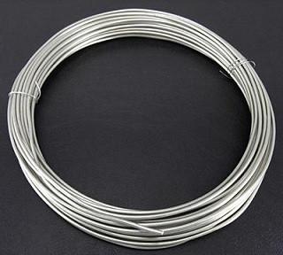 aluminijasta barvna žica za oblikovanje, 1,5 mm, srebrne b., dolžina: 10 m
