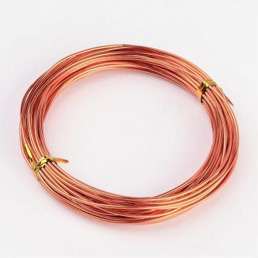aluminijasta žica za oblikovanje, 1,5 mm, oranžna, dolžina: 10 m