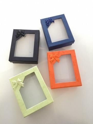 škatla za nakit 90x70x28 mm, oranžne barve, 1 kos